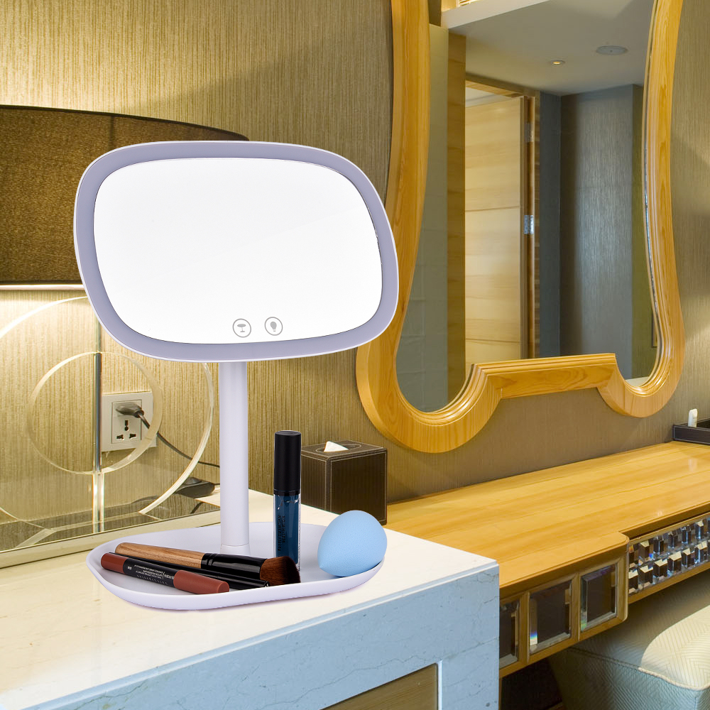 Beauty Makeup Mirror Touch Screen 360Degree Rotating Desk LED lamp Vanity Bathroom Livingroom Makeup Beauty Acessory