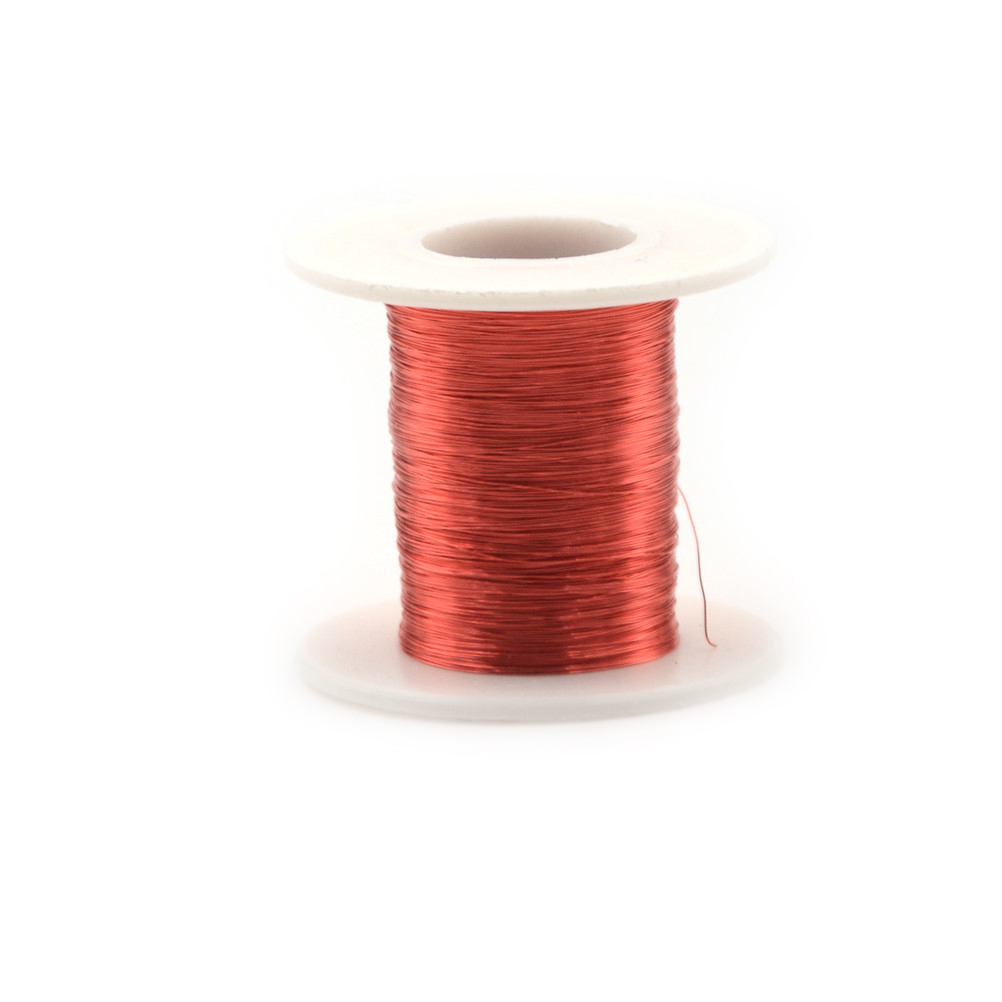 Magnet Wire 100m02mm Qa Enameled Copper Red Magnetic For Coils Of Are Commonly Used In Electrical Inductors Inductance Coil