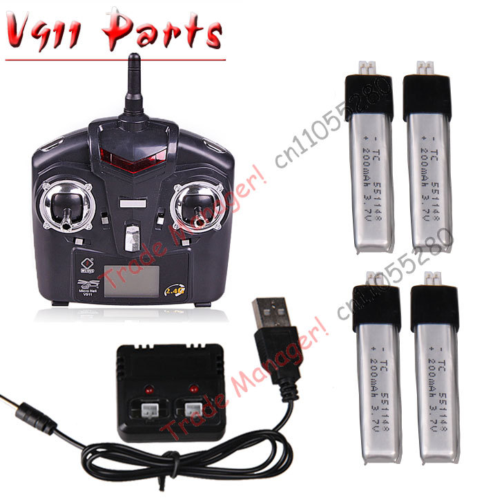 Free shipping WL V911 parts 200mah battery + charger + the remote for v911 or v911-2 RC Helicopter parts free shipping v912 the remote controller of v912 v911 v911 1 rc helicopter wl universal remote control