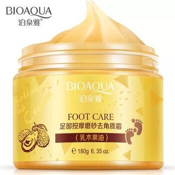 BIOAQUA Exfoliating Foot Massage Scrub Cream 180g Whitening Moisturizing Foot Spa Skin Care Dead Skin Remover Peeling Feet Cream bioaqua exfoliante para pies