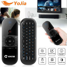 vontar 2.4G Wireless Mini Keyboard Air Mouse 057 English Russian For Windows Android TV Box Rechargeable same as W1 airt mouse