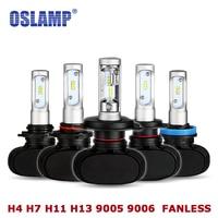 Oslamp Automobile 6500K White S1 Series Led H4 H13 Hi Lo Beam Headlight Bulbs 9005 9006
