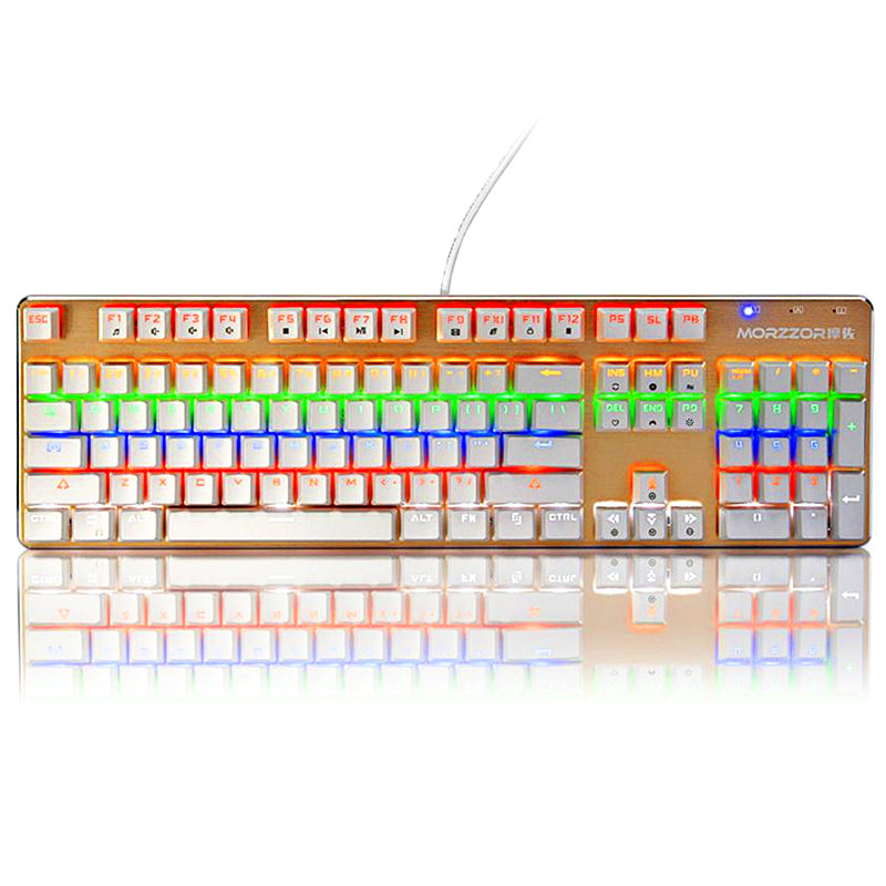 ФОТО 2016 Newest USB Wired Illuminated Colorful LED Backlight Metal Gaming Keyboard For Sale