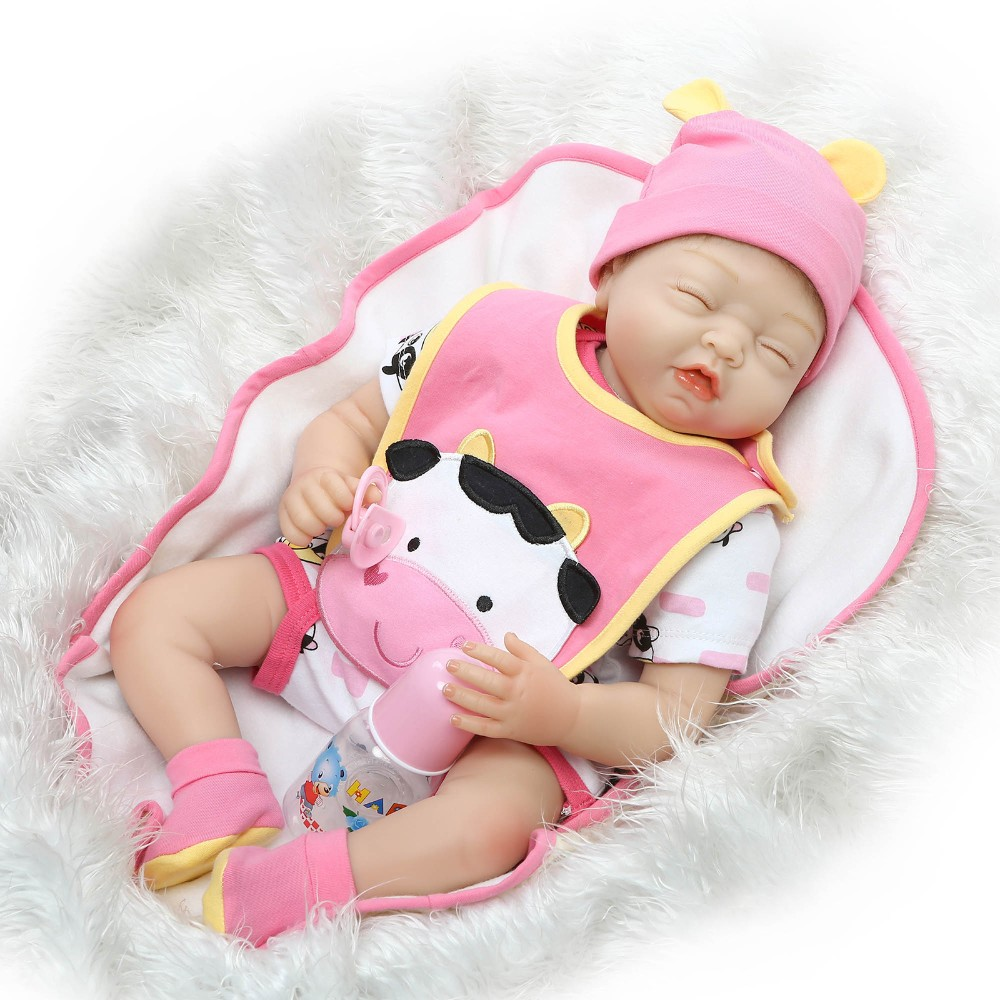 55cm Silicone Reborn Baby Doll Kids Playmate Gift for Girls Baby Alive sleeping Soft Toys for Bouquets Doll baby infant Toys55cm Silicone Reborn Baby Doll Kids Playmate Gift for Girls Baby Alive sleeping Soft Toys for Bouquets Doll baby infant Toys