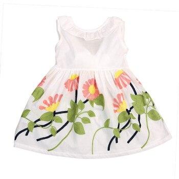 Vestido De Princesa Para Niños Bebé Niña Bowknot A Rayas