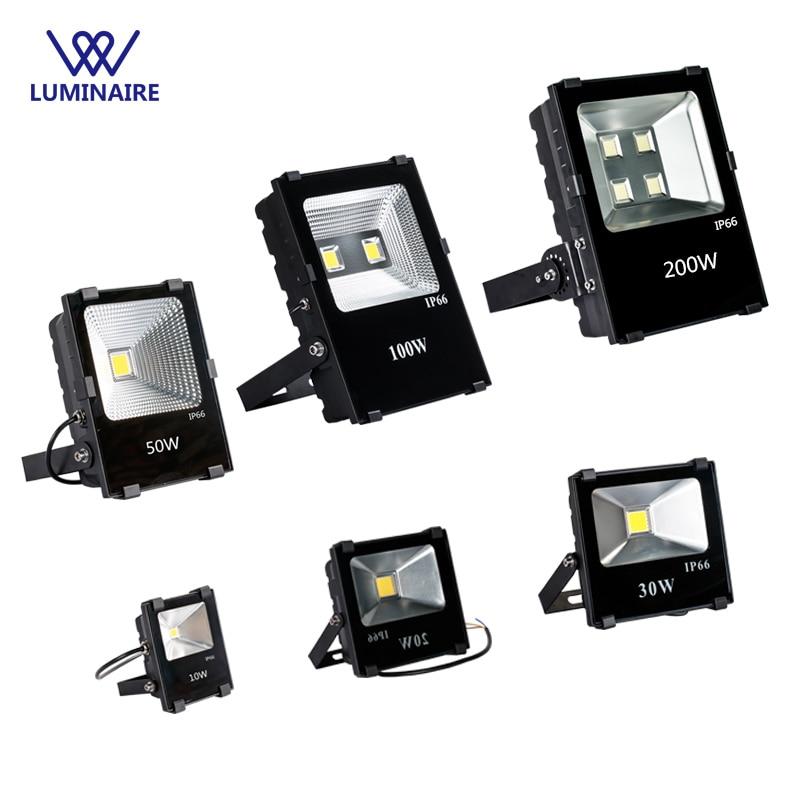 VW 50w floodlight 10W 20W 30W LED outdoor searchlight aluminum IP66 Floodlights 100W 200W reflector led light wall washer lights
