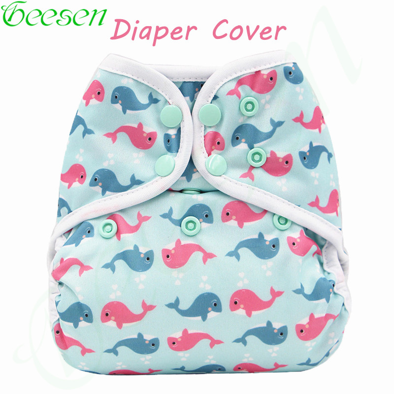 Reusable Waterproof Diaper Cover Double Gussets Cloth Diaper Cover PUL Colorful Double Row Snap Washable Nappy Cover For Baby [mumsbest] 3pcs reusable cloth diaper cover washable waterproof baby nappy pul suit 3 15kgs adjustable boy diaper covers