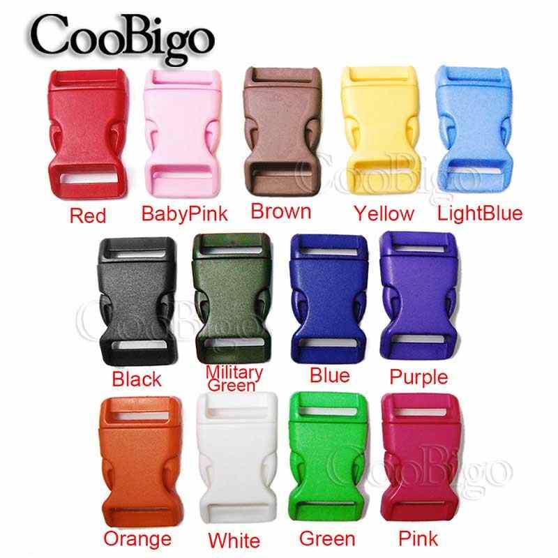 1 шт. упаковка 3/4 ''пластиковые цветные Контурные боковые регулировочные пряжки ширина карабина 20 мм Паракорд для браслетов и сумок запчасти 13 цветов выбор