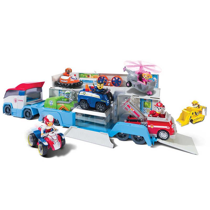 Pata do Cão de Patrulha Patrulha Carro Figura de Ação Brinquedos de Resgate Móvel Ônibus Patrulha Carro Crianças Brinquedos de Presente de Natal de Aniversário Do Cão Filhote de Cachorro