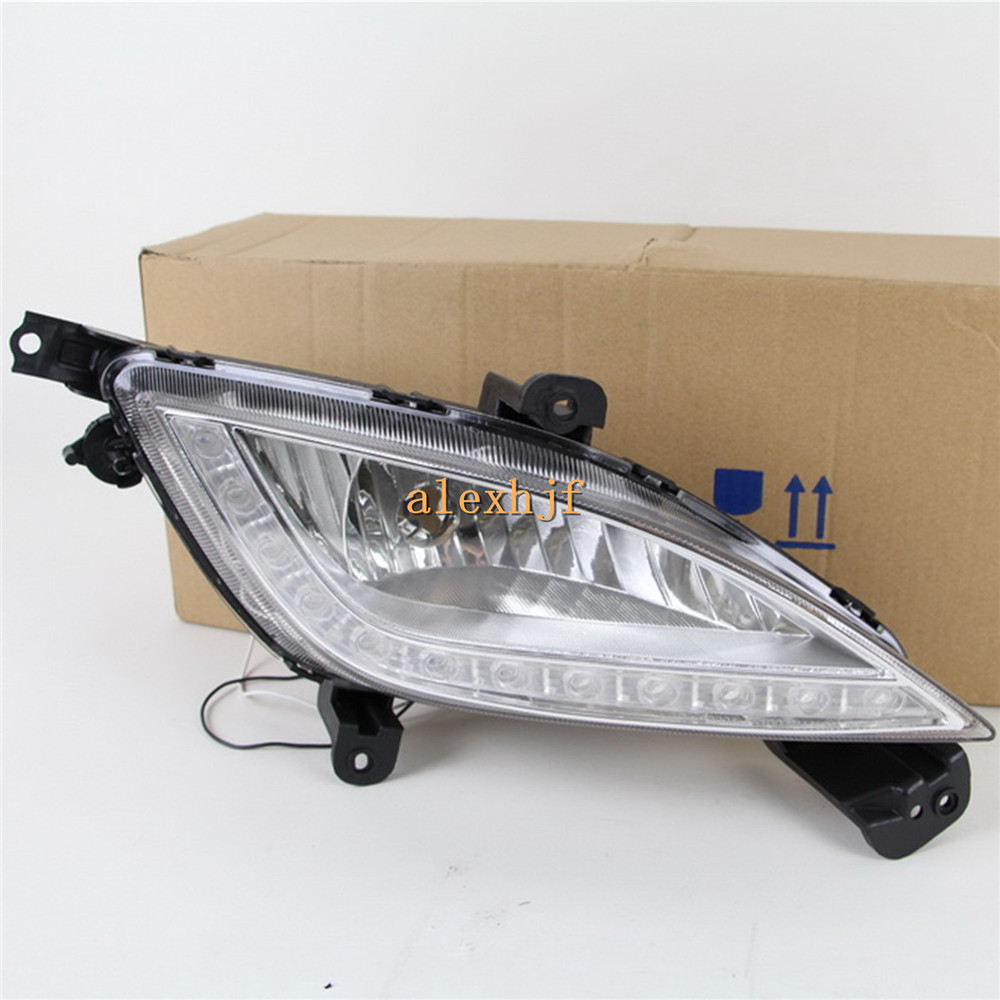 July King LED Daytime Running Lights DRL LED Fog Lamp Case for KIA Optima K5 2011~13, LED Front Bumper Lights Full Set