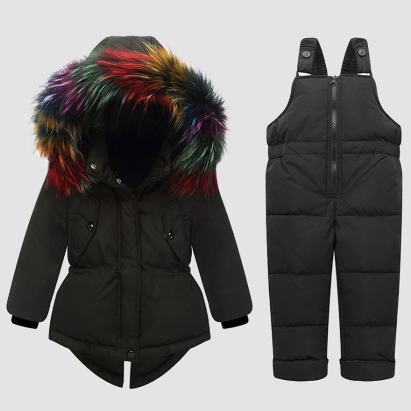 Children Winter Baby Down Jacket Set Hooded Warm Girl Cotton Set Thicken Baby Boy coat + Vest pants 2pcs Infant Clothes LK072 3 baby 2018 brand new free kit lovely dot vest girl sleeve cotton warm children s clothing hooded clothes pants boy body