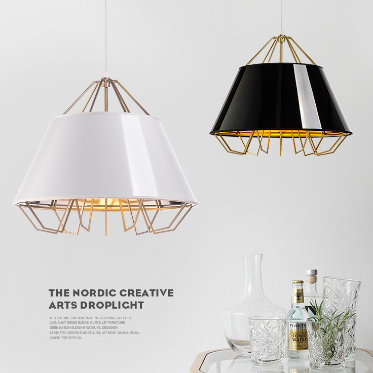 Modern Nordic Drolight White Black Fabric Clothing Pendant Lights Fixture Home Indoor Lighting Clubs Restaurant Hanging Lamps