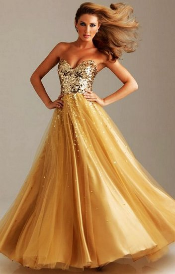 free shipping party gown paillette sweetheart vestido de festa curto 2014 new design sexy gold long prom dresses