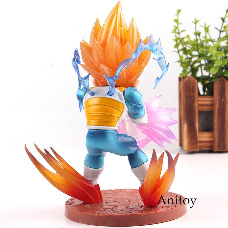 Dragon Ball Z Figura de Ação Super Saiyan Vegeta Q Versão PVC Figura Vegeta Dragon Ball Brinquedos Coleção Modelo Estatueta