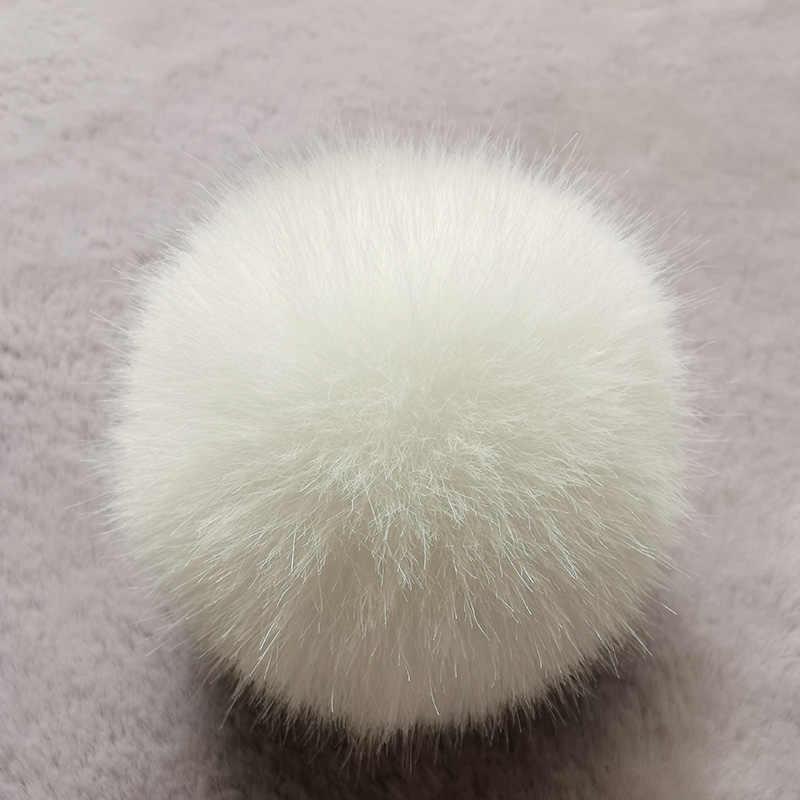 NianFox 1 PC Rodada Faux Rabbit Fur Bola chaveiro 3 Especificações Pequeno (5 ~ 6 CM) médio (6 ~ 7 CM) Grande (7 ~ 8 CM) DIY Ornamentos Pingente