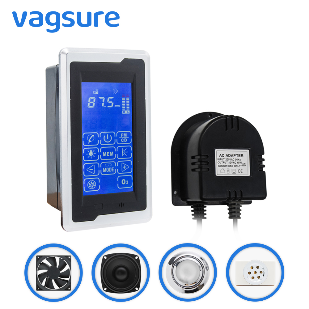 1set ( Controller+Transformer+Vent Fan+Speaker+Light+ozone) Touch Screen Big LCD Display Freehand Telephone Shower Room Cabin1set ( Controller+Transformer+Vent Fan+Speaker+Light+ozone) Touch Screen Big LCD Display Freehand Telephone Shower Room Cabin