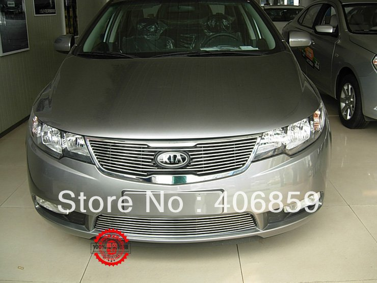 High quality stainless steel Front Grille Around Trim Racing Grills Trim For 2009-2012 KIA Cerato/Forte