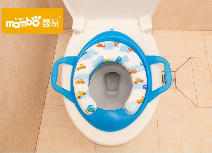 Soft Baby Toilet Training Seat Cushion With Handles Large Child Baby Potty Toilet Cushion