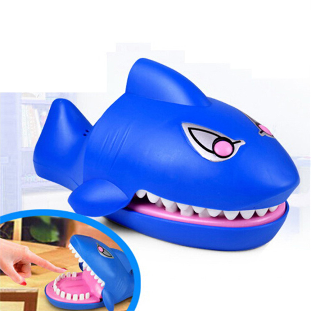 Shark Toys Joking Funny Gag Toys Mouth Dentist Bite Finger Novelty Family Game Toy For Kids Children Gift Cartoon image