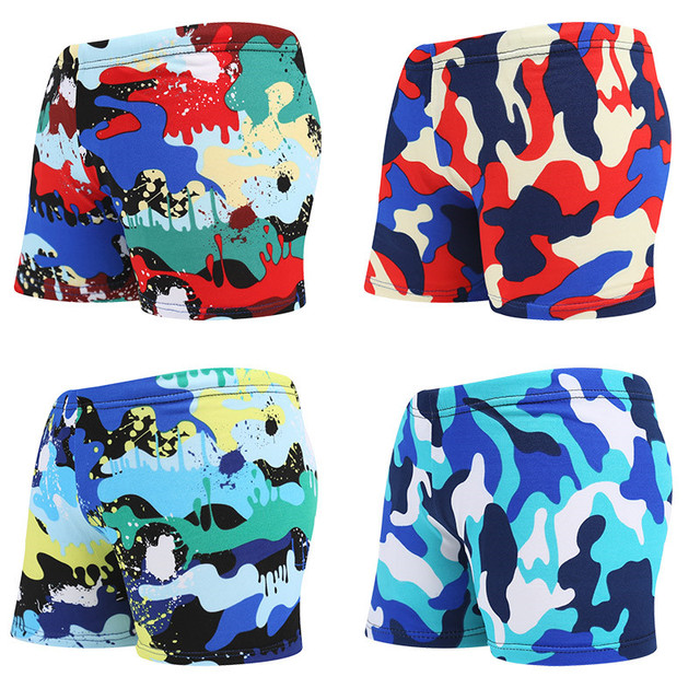 Summer Boys Shorts Kids Cartoon Pattern Swimming Trunks Cute Swim Trunks Girls Children Beach Wear Summer Board Swimwear