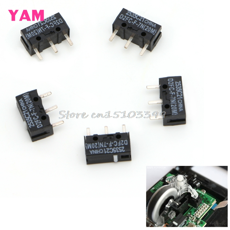 5Pcs D2FC F 7N 20M Micro Switch For Mouse Replacement Substitute Tested Drop Ship