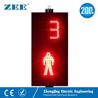 8 дюймов 200 светодио дный светодиодный светофор светодио дный светодиодный пешеходный светофор красный человек зеленый человек с счетчик в
