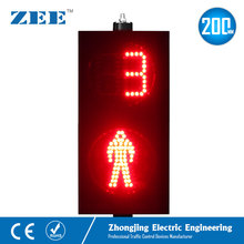 8 inches 200mm LED Traffic Light LED Pedestrian Traffic Signal Light Red Man Green Man with Counter down  timmer pedestrian бермуды