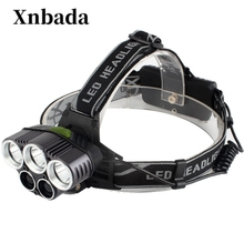 Headlight headlamp CREE XML 5 LED T6 Head Lamp Flashlight light with 18650 battery AC/DC charger 30W 2000 lumens cree xm l xml t6 led headlamp headlight flashlight head lamp light 18650 ac car charger for hunting camping