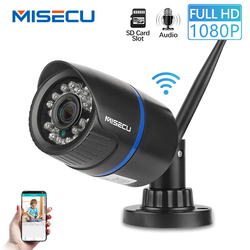 MISECU Audio H.264+ Wifi 2.0MP IP camera built in 64GB SD slot 1920*1080P P2P Wireless email push Night vision IR Outdoor CCTV