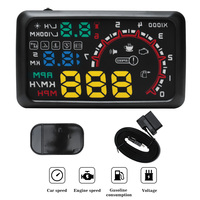 BORUiT Universal 5.5 Inch HUD Head Up Display OBDII Overspeed Warning Windshield Projector Alarm System Car styling