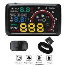 BORUiT sistema de alarma para parabrisas, Universal, 5,5 pulgadas, pantalla HUD Head Up, OBDII, advertencia de exceso, sistema de alarma para coche