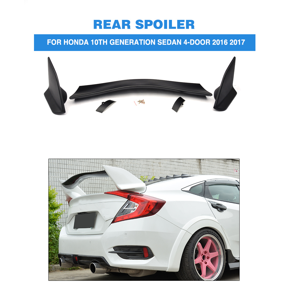 ABS Black Rear Trunk Boot Race Spoiler Wing for Honda Civic 10th Generation Sedan 4-Door 2016 2017 Car Styling 2007 bmw x5 spoiler