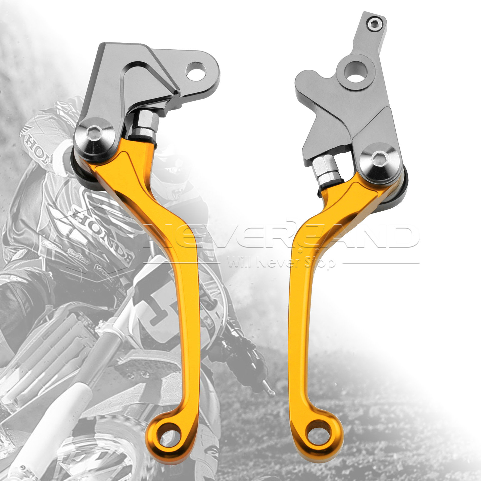 One Pair CNC Pivot Brake Clutch Levers For Honda XR250/MOTARD 95-07 XR400MOTARD 05-08 CRM250R/AR 94-98 L01K/R05K Gold D10