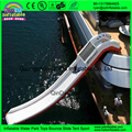 New design yacht water slide for commercial use, inflatable floating water slide
