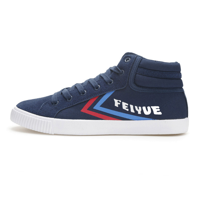 EU34-44 Black White Blue Flat Canvas Feiyue Retro High Fitness Students KungFu Sneakers Skateboarding Shoes Women Man blue man group 2018 11 28t20 00
