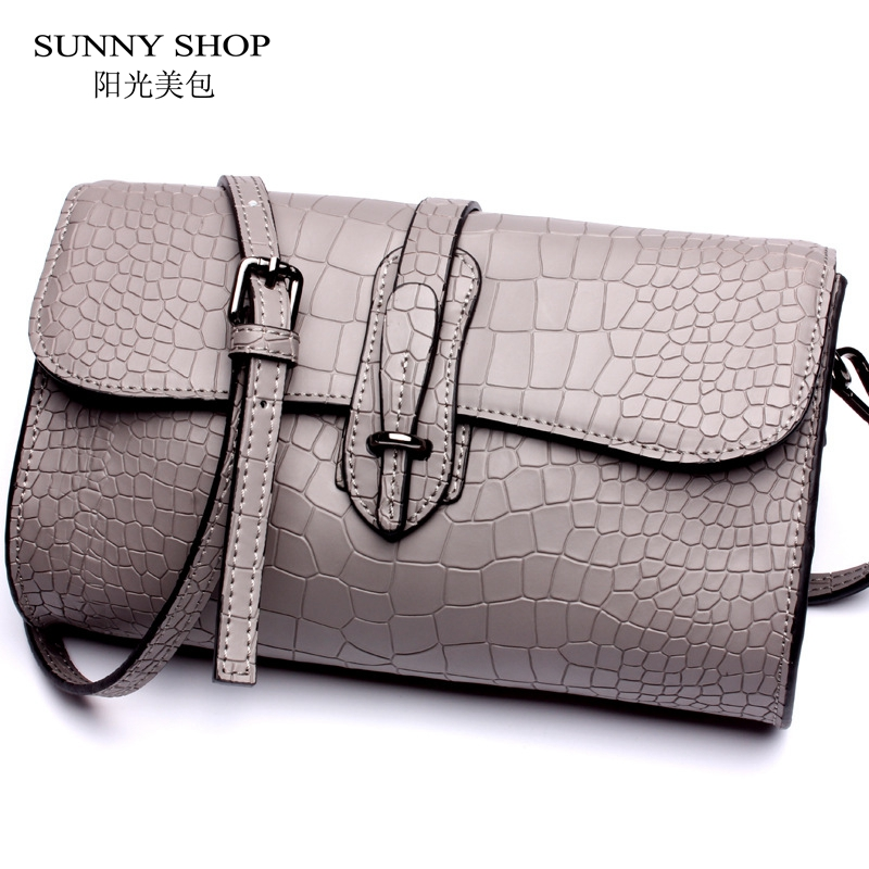 77d6cae4ef33 SUNNY SHOP LUXURY Genuine Leather Bags Women Fashion Stone Pattern Women Bag  Nature Leather MINI Evening Bags Real Leather Bag
