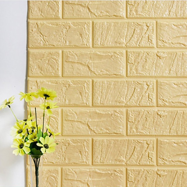 70X30CM PE Foam 3D Wall Stickers Safty Home Decor Wallpaper DIY Wall ...