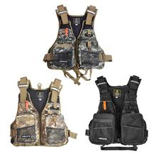 3 Color Adjustable Fly Fishing Vest Pack Outdoor Mutil-Pocket Safety Fishing Life Jacket Free Size Sports & Entertainment