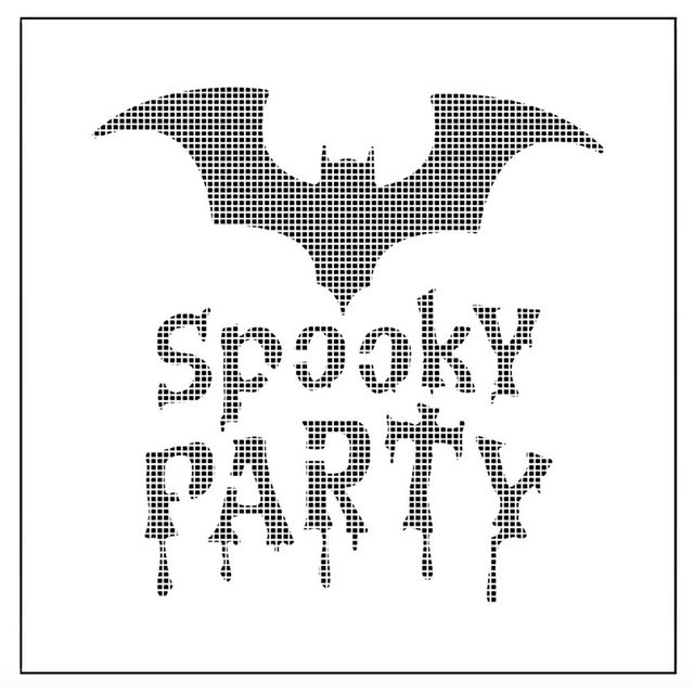 1pc Bat Y Party Reusable Stencil Airbrush Painting Art Cake Spray Mold Diy Decorating Tools