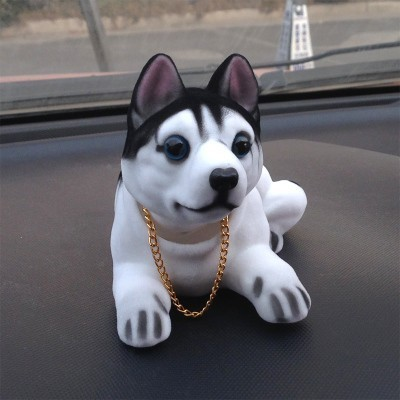 Car Interior Decoration Simulation Dog Shaking Head Ornaments font b Accessories b font Swing Dog Doll