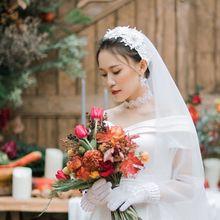 2 уровня винтажная женская свадебная вуаль Цветочная Кружевная аппликация Имитация Жемчужный Цветок из горного хрусталя Фата невесты с фиксированными зажимами