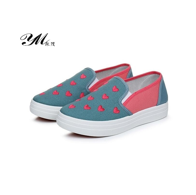 YM Ladies Spell Color Casual Canvas Shoes Women