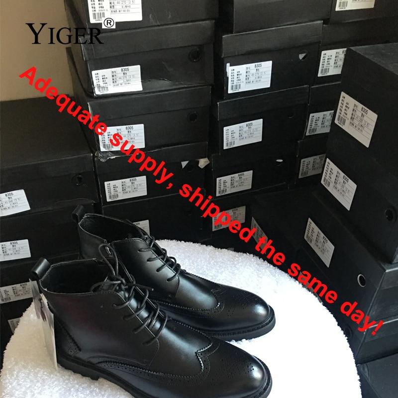 YIGER ΝΕΑ Μπότες Άνδρες Γνήσια - Ανδρικά υποδήματα - Φωτογραφία 5
