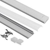 100 PCS DHL 1m LED strip aluminum profile for 5050 5630 LED disco bar light led bar aluminum channel box with lid end cap