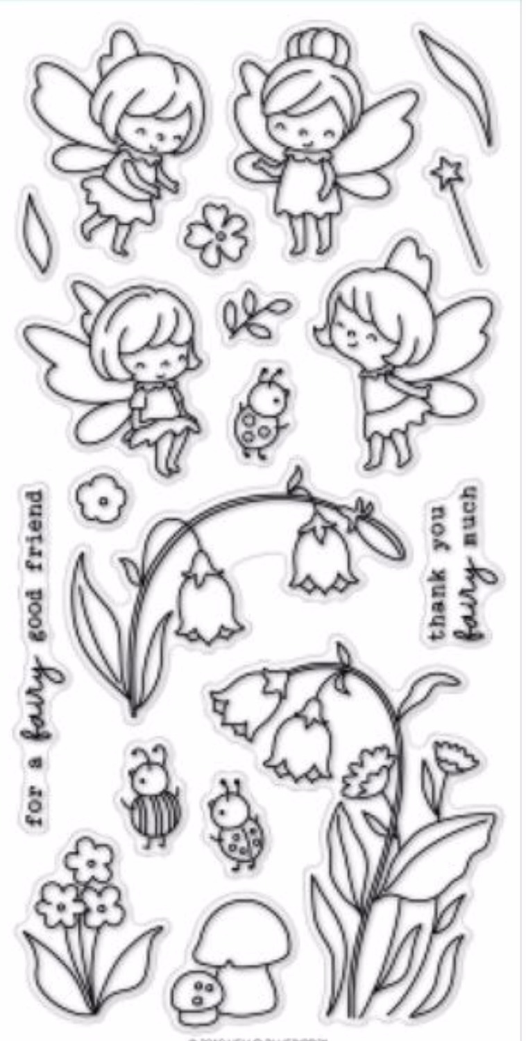 Lovely Fairy Transparent Clear Silicone Stamp/Seal for DIY