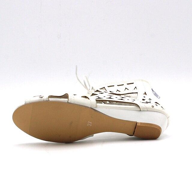 cc706c522eaaa Home > ENMAYER Big Size 34-43 Fashion Cut-outs Lace Up Sandals Open Toe Low  Wedges Bohemian Summer Shoes Beach Shoes Woman White Shoes. Previous