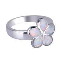 VIKIKO Biżuteria Biały Ogień Opal Kamień Pierścionki Obrączki Obrączki Dla Pary Prezent Z Góry Pakiet OPR-17005B