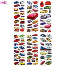 6 Sheets Racing Super Sports Car Scrapbooking Luggage Laptop Bubble Stickers Emoji Reward Kid Children Toys Factory Direct Sales(China)