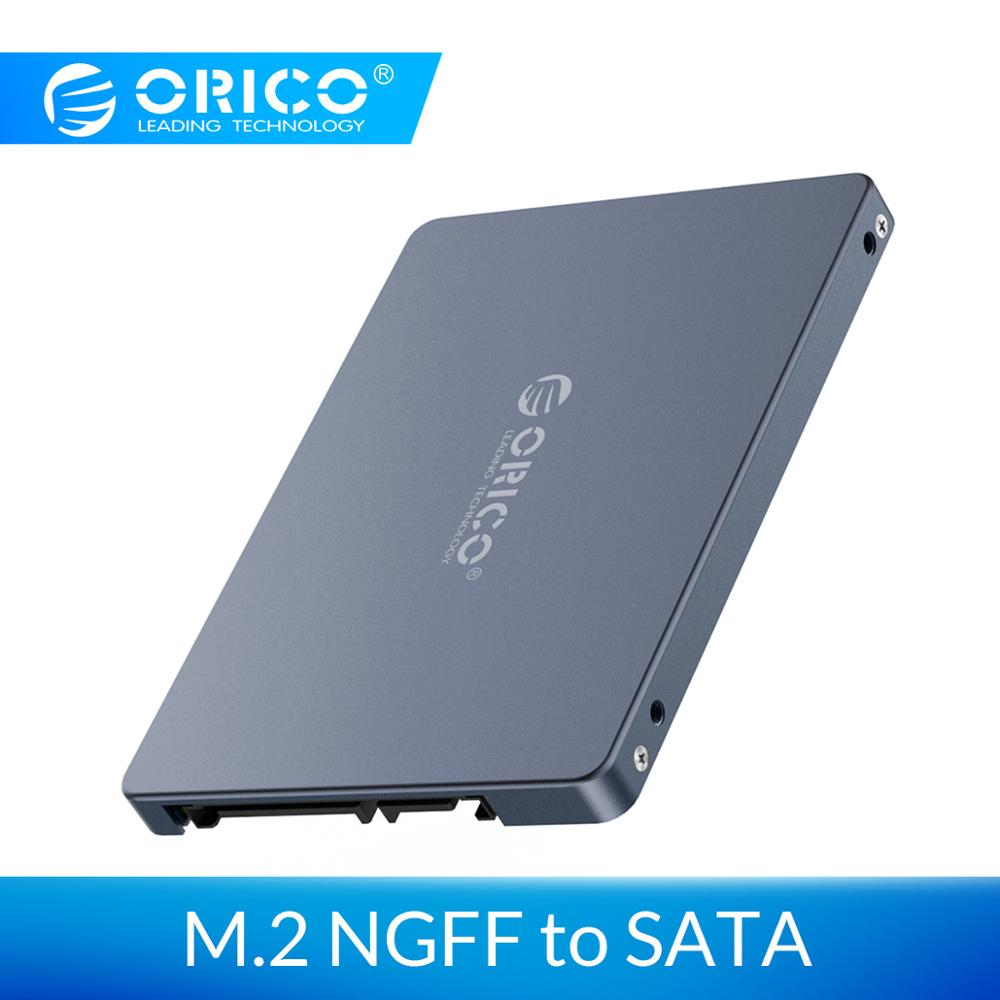 ORICO Case 2.5 Inch M.2 NGFF To SATA 3.0 SSD Adapter Convertor For Samsung Seagate SSD 2TB Hard Disk Drive Box 6Gbps Super Speed