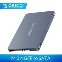 ORICO чехол 2,5 дюймов M.2 NGFF на SATA 3,0 SSD адаптер конвертер для samsung Seagate SSD 2 ТБ жесткий диск коробка 6 Гбит/с супер скорость